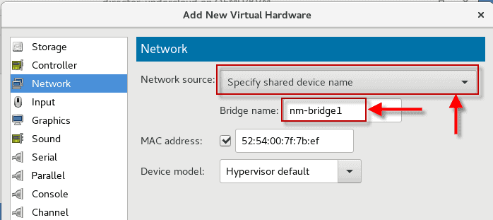 configure bridged network in virt-manager