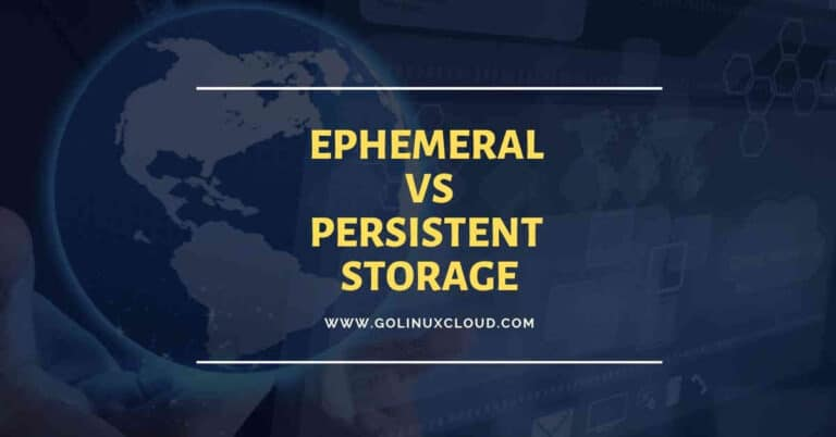 define ephemeral disk in OpenStack and compare with persistent storage