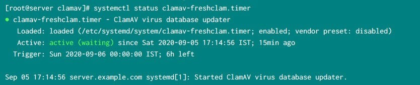 Steps to install and configure ClamAV in Linux CentOS 7