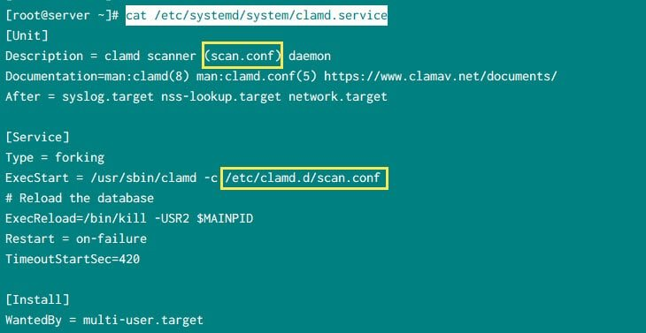 Simple steps to install & configure ClamAV in CentOS 7