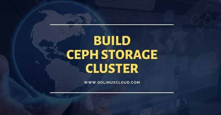 How to configure or build ceph storage cluster in Openstack ( CentOS 7 )