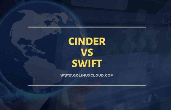 cinder vs swift storage