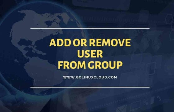 linux add user to group or remove user from group