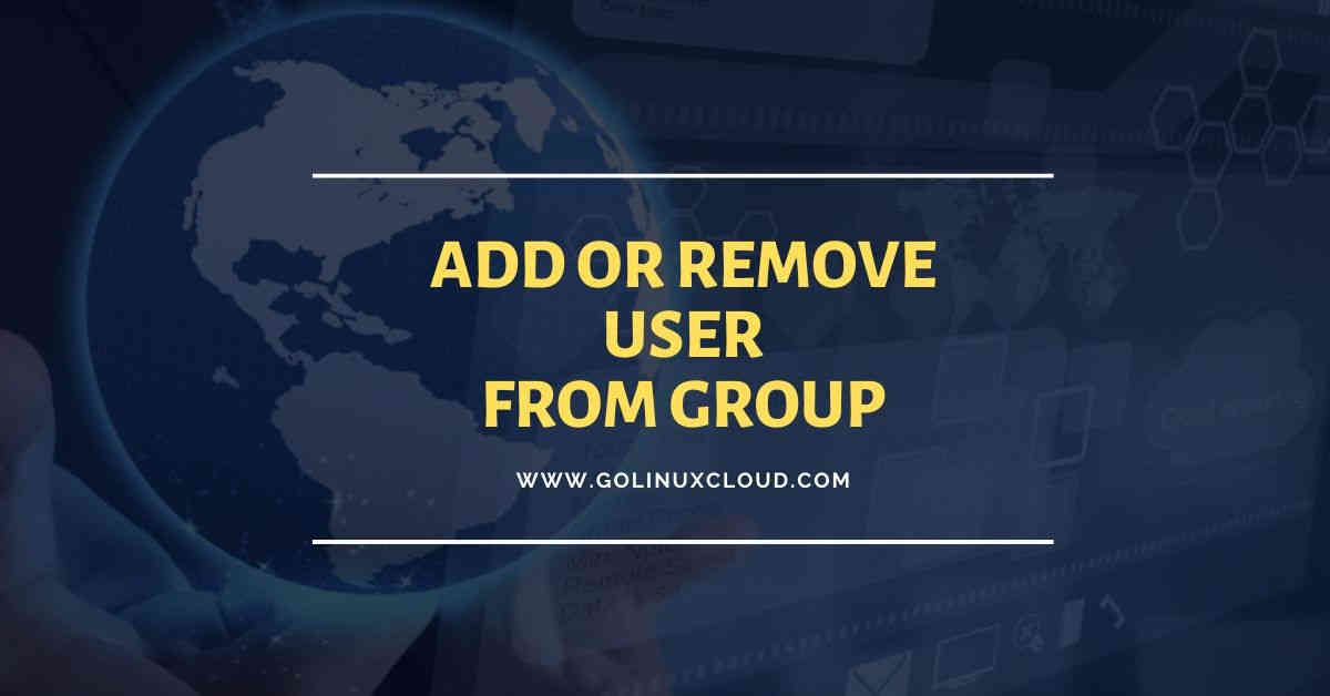 10 practical examples to add or remove user from group in Linux