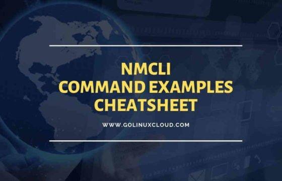 nmcli command examples cheatsheet