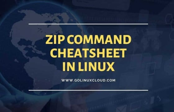 18 examples to compress and archive using zip in Linux (cheatsheet)