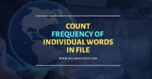 How to count occurrences of word in file using shell script in Linux