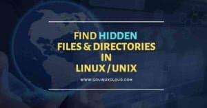 Unix and Linux show hidden files find hidden files and folders