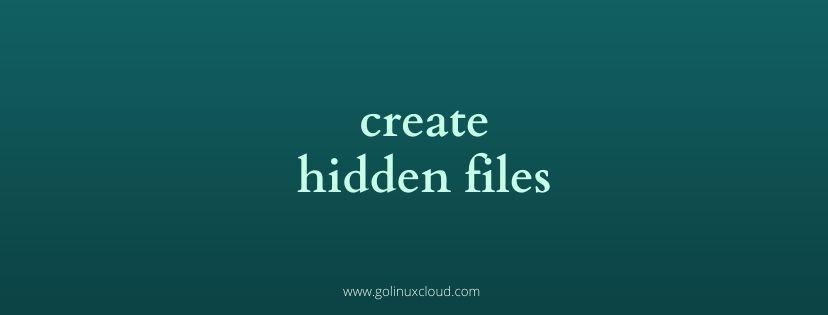 Linux show hidden files