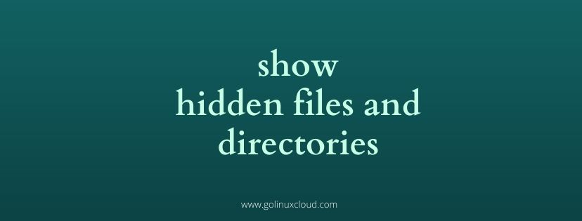 Linux show hidden files and directories