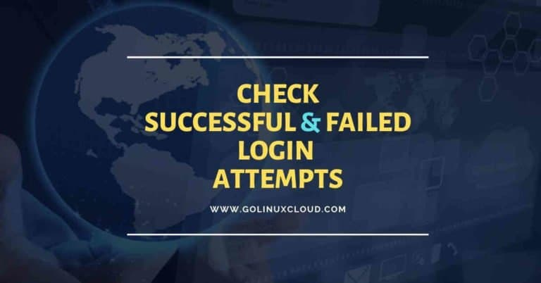 Script to check successful and failed login attempts in Linux
