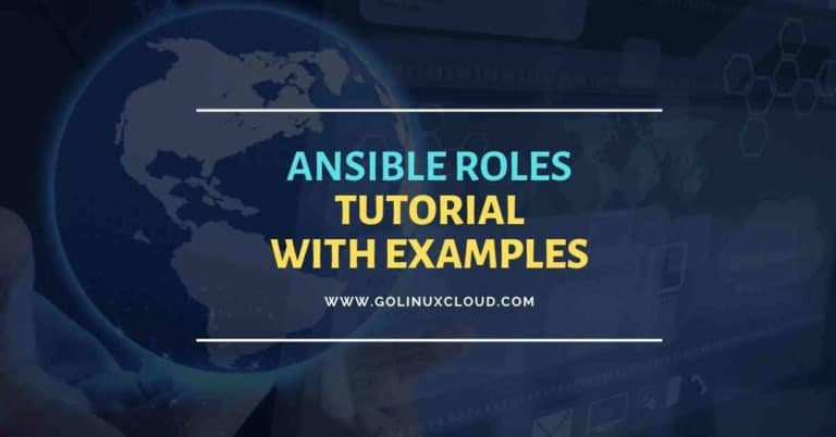 Create ansible role from scratch | Ansible roles example