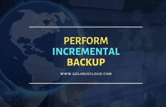 Perform tar incremental backup with example in Linux