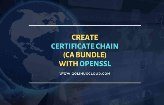 OpenSSL create certificate chain with Root & Intermediate CA