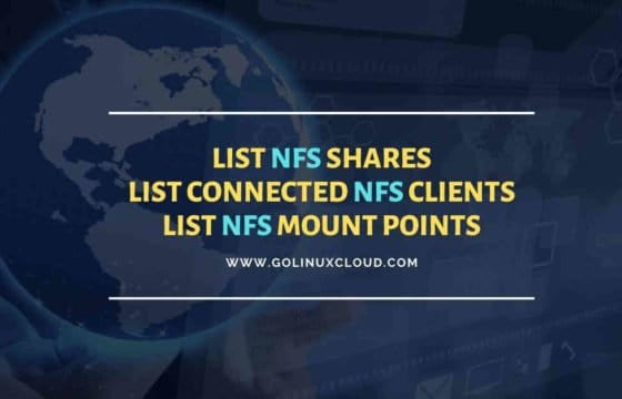 Show NFS shares | List NFS mount points | List NFS clients Linux