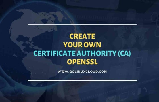 Create Certificate Authority and sign a certificate with Root CA