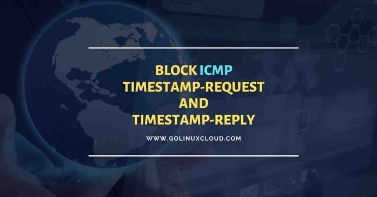 Disable ICMP timestamp responses in Linux
