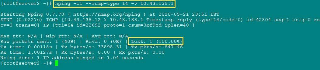 How to disable ICMP timestamp responses in Linux