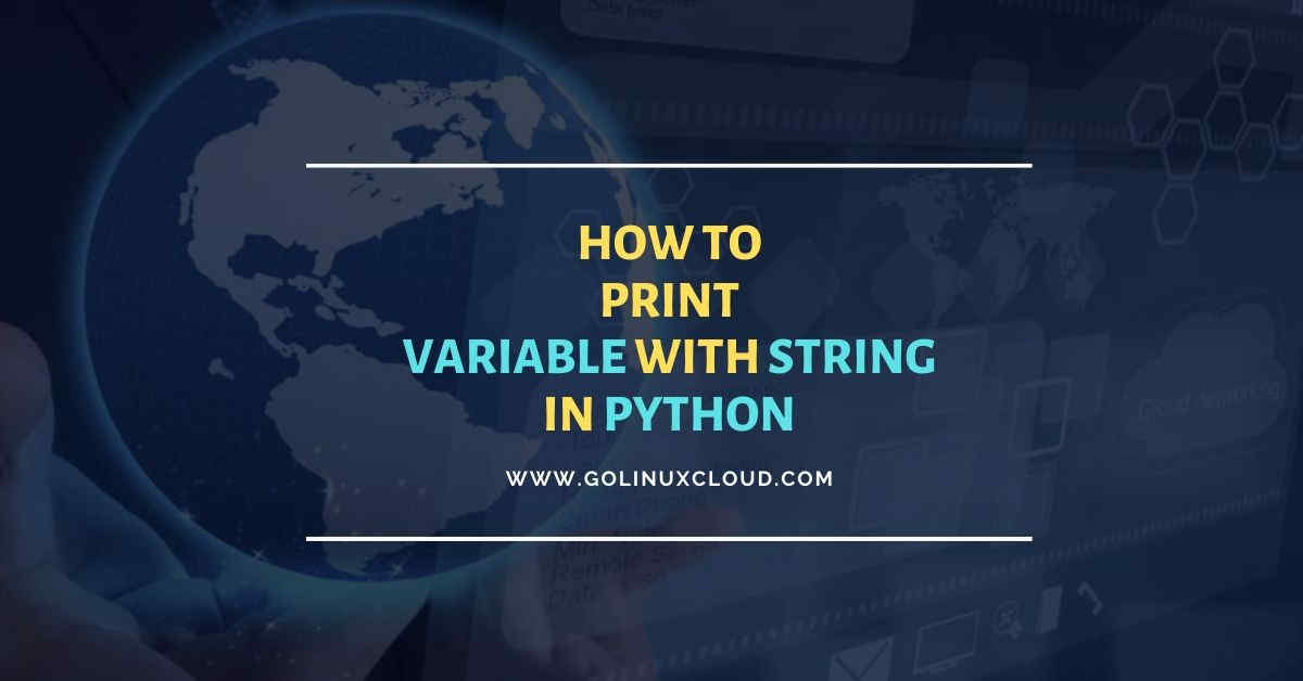 Print variable in python using 4 different methods