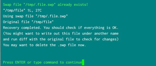 [Solved] Found a swap file by the name