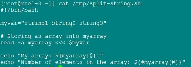 Bash split string into array using 4 simple methods