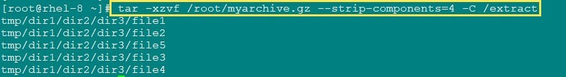What is tar --strip-components & zip --junk-paths with examples in Linux