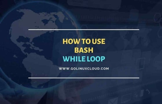 Bash while loop usage for absolute beginners