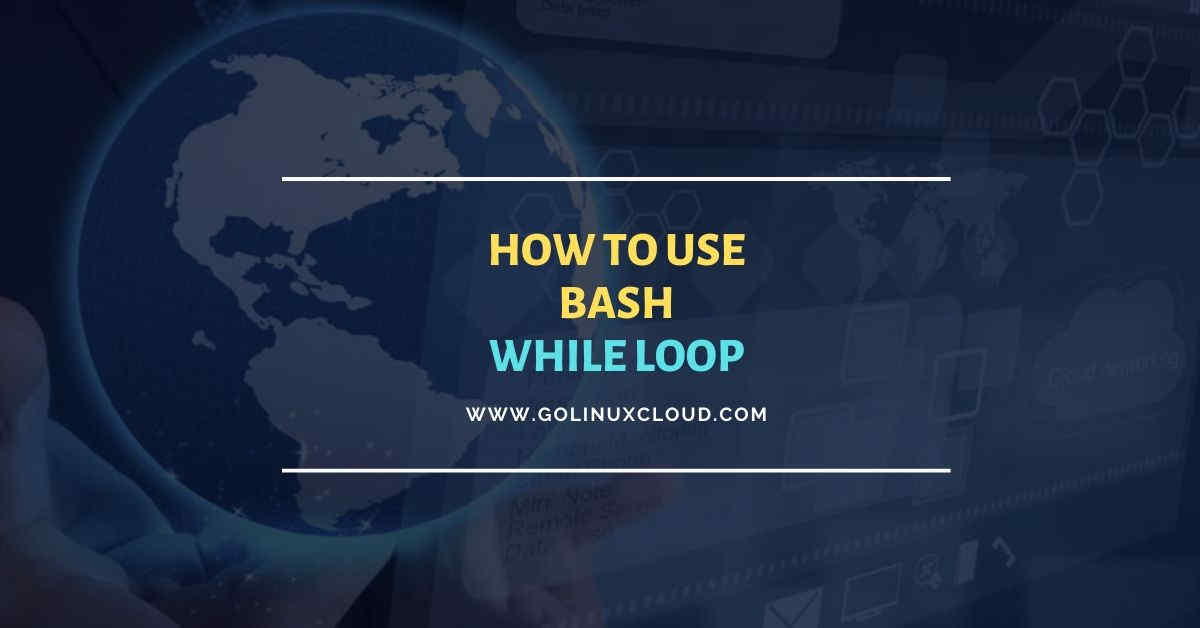 Bash while loop usage with examples for beginners