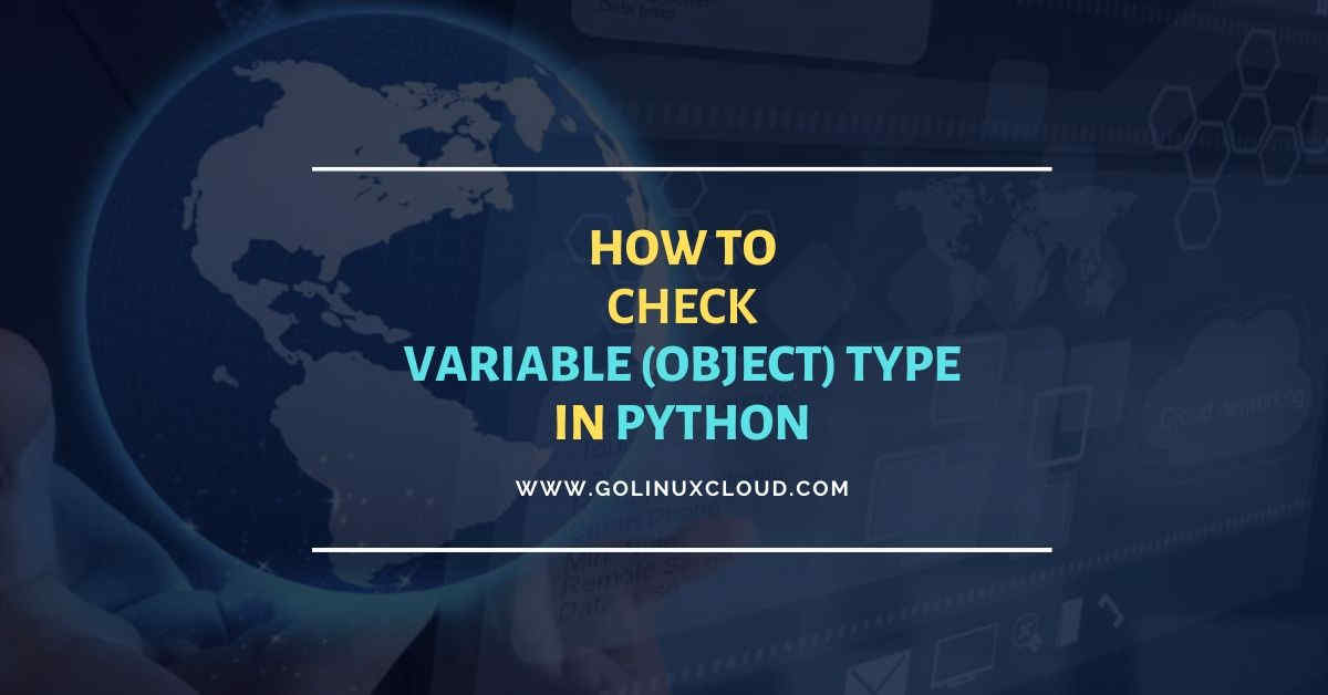 How to check type of variable (object) in Python