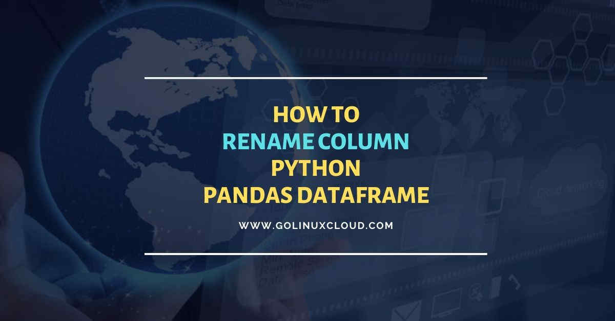 Pandas rename column using DataFrame.rename() function