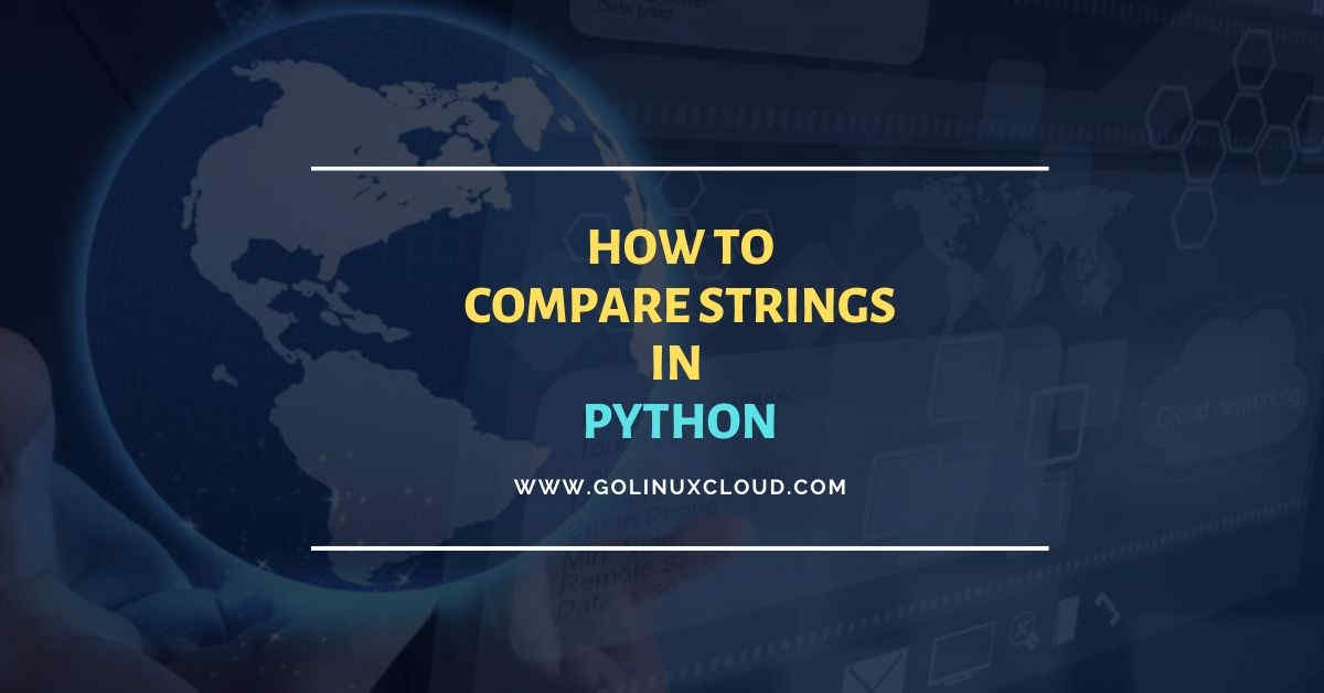 How to compare strings in Python