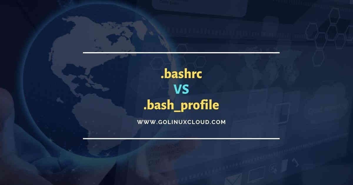 Difference .bashrc vs .bash_profile (which one to use?)