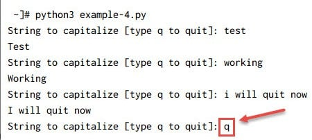 Python while loop examples for multiple scenarios