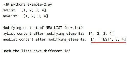Python copy list - deepcopy() vs copy() with examples
