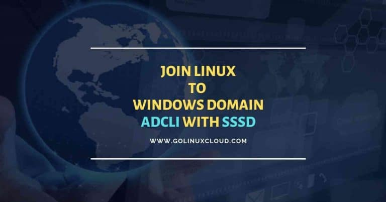 Join Linux to Windows domain using adcli (RHEL/CentOS 7/8)
