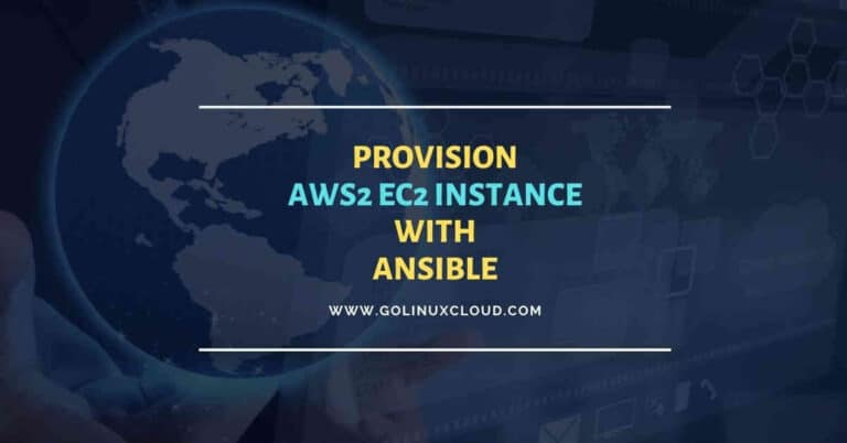 How to provision AWS EC2 Instances using Ansible