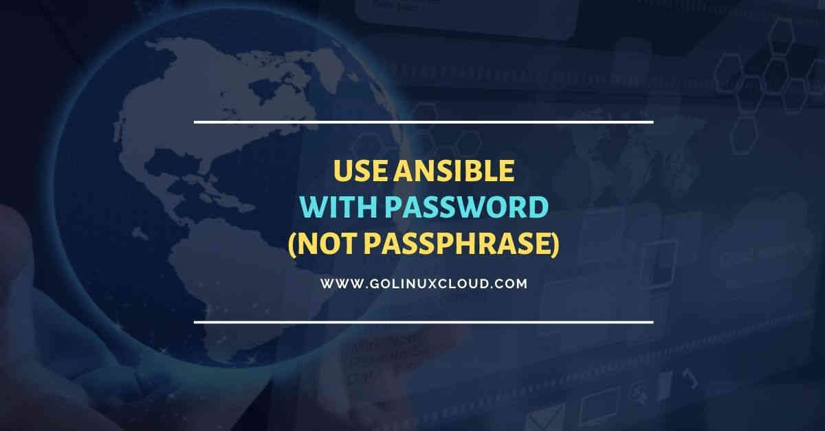 Working with managed nodes with password (not passphrase)
