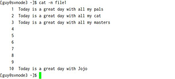 cat command examples in Linux/Unix [cheatsheet]