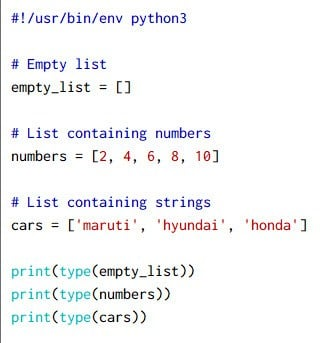 10+ simple examples to learn Python list in detail