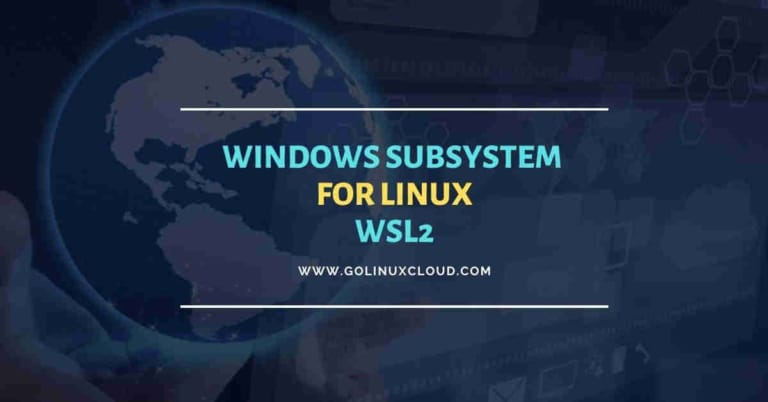 Windows Subsystem for Linux 2 (WSL2) on Windows 10