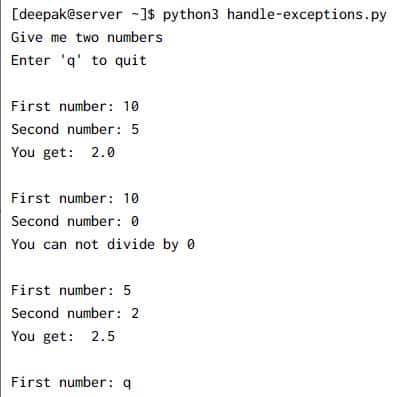10+ simple examples to learn python try except in detail