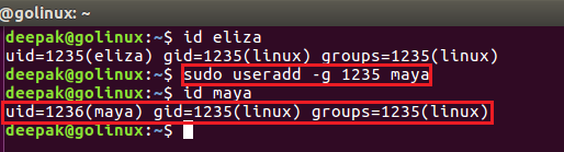 useradd command to create new user using specific group ID
