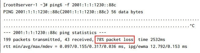 How to stop ICMP ping flood attack (DOS) on Linux