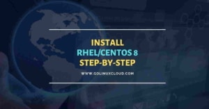 Install RHEL/Centos 8 Linux