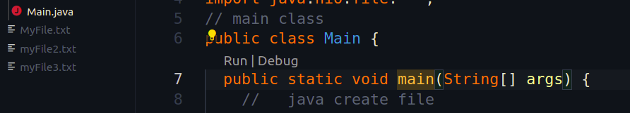 java create file