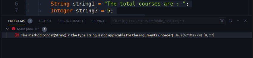 java concatenation problem