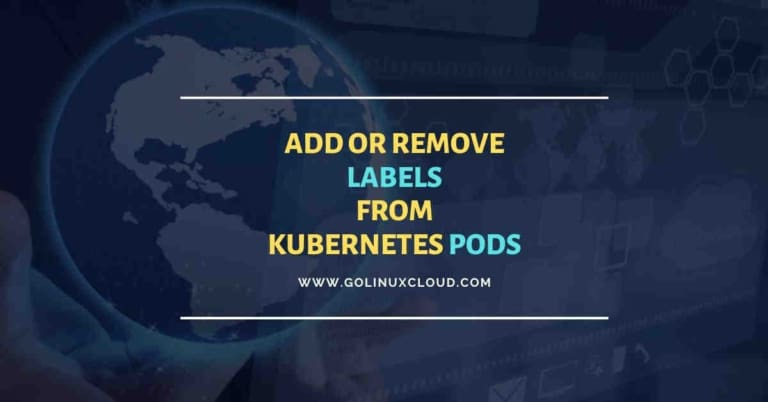 How to add label to running pod in Kubernetes
