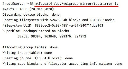 Create Mirrored Logical Volume in Linux [Step-by-Step]