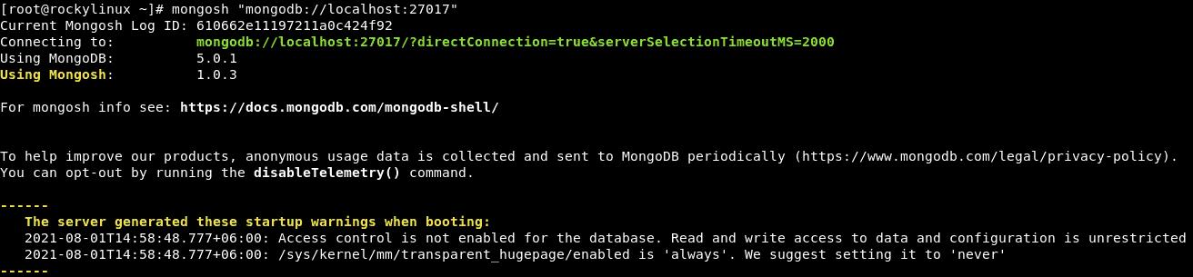 Install MongoDB on Rocky Linux 8.4 (Step-by-Step)